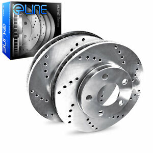 Brake Rotors Rear Eline Cross Drilled Ford Mustang 1994 1998 Excluding Cobra