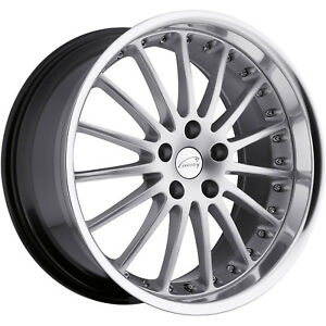 Coventry Whitley 17x8 5x108 5x4 25 42mm Hypersilver Wheels Rims
