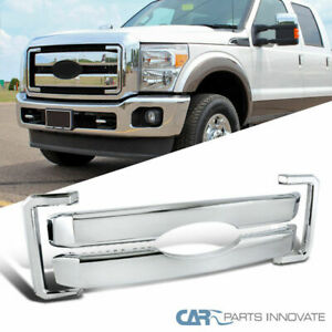 11 16 Ford F250 F350 F450 F550 Super Duty Chrome Hood Grille Grill Overlay Cover
