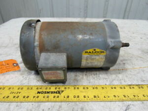 Baldor Jm3545 1hp Electric Motor 3ph 208 230 460v 3450rpm 56j Frame