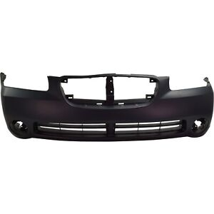 Front Bumper Cover For 2002 2003 Nissan Maxima W Fog Lamp Holes Primed