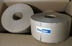 10 Rolls Shurtape Water Activated Reinforced Gummed Kraft Paper Tape 3 X 450