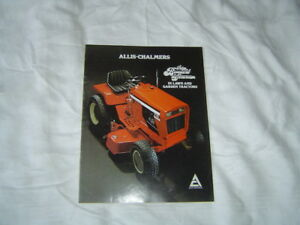 Allis Chalmers 600 700 800 Series Lawn And Garden Tractor Brochure