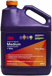 3m 36107 Perfect it Gelcoat Medium Cutting Compound Wax 1 Gal
