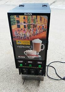 Bunn o matic Hc 3 Cappuccino Hot Chocolate Cocoa Machine 3 flavor Dispenser