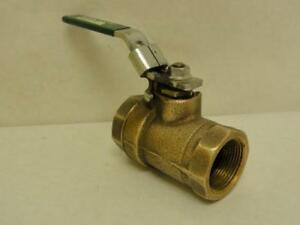 172281 Old stock Watts 1 1 4 b6400 se Bronze Inline Ball Valve 1 1 4 Npt 800 Wo
