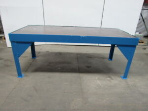 Steel Welding Work Bench Layout Assembly Table 84x37x33 1 2 Tall 3 4 Thick Top