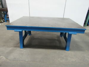 Steel Welding Work Bench Layout Assembly Table 76x52x30 Tall 7 8 Thick Top