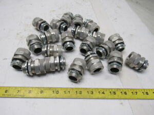 Aluminum 3 4 Liquid Tight Electric Conduit Straight Fitting Lot Of 21