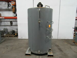 Hamilton Solid 475 Gallon Carbon Steel Vertical Bulk storage Tank W heat Coil