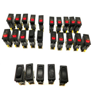 lot Of 25 Assorted Carling 6215929 Pole 2 Tone Rocker Switches 8 Amp