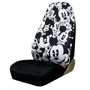 New Walt Disney Mickey Mouse Expression Car Truck Front Seat Cover