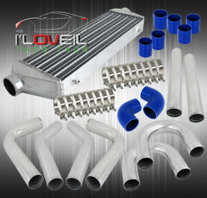 Universal Turbo 31 Intercooler With 2 5 8pc Polish Aluminum Piping U pipe Kit