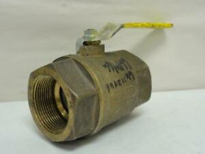 169191 Old stock Apollo 70 109 01a Inline Ball Valve Bronze 2 1 2 Fnpt 600wo
