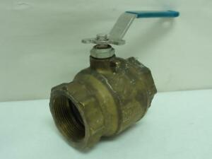 169192 Old stock Industry Standard 6fxy6 Inline Ball Valve Bronze 1 1 2 Fnpt