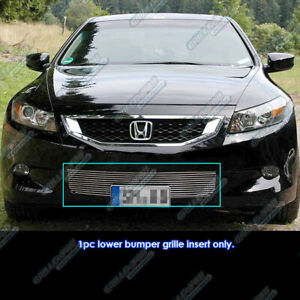 Fits 2008 2010 Honda Accord Coupe Bumper Billet Grille Insert