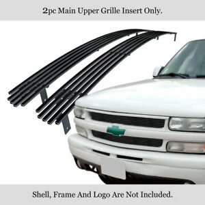Fits 1999 2002 Chevy Silverado 1500 2006 Tahoeblack Stainless Billet Grille