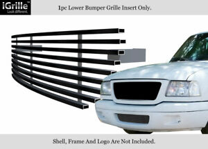 Fits 2001 2003 Ford Ranger 2wd Bumper Black Stainless Steel Billet Grille