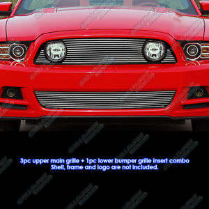 Fits 2013 2014 Ford Mustang Gt Billet Grille Combo