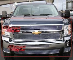 Fits 2007 2010 Chevy Silverado 2500 3500 Billet Grille Combo