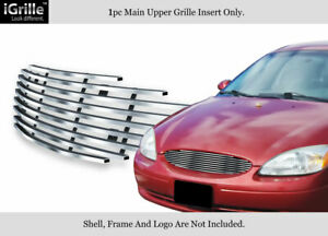 Fits 2000 2003 Ford Taurus Stainless Steel Billet Grille Insert