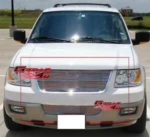 Fits 2003 2006 Ford Expedition Billet Grille Combo Upper Bumper