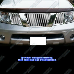Fits 2005 2007 Nissan Frontier Pathfinder With Logo Punch Grille Sheet