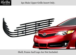 Fits 2012 2014 Toyota Camry Se Black Stainless Steel Billet Grille Grill Insert