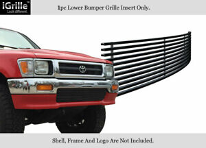 Fits 1992 1994 Toyota Pickup Truck 4wd Black Stainless Billet Bumper Grille