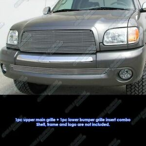 Fits 2003 2006 Toyota Tundra Billet Grille Grill Combo Insert