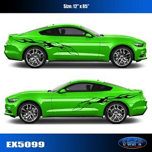 Mustang Graphic Decal Tribal Stang Flame Ford Vinyl Car High Quality Egraf x