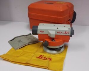 Leica Wild Model Na 824 Construction Level With Hard Case Free Ship