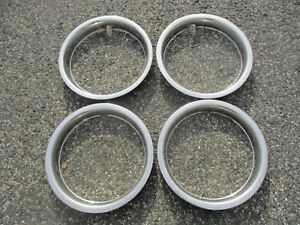 Chevy Olds Pontiac Gm 14 Trim Rings Beauty Rings Set Of 4 Metal