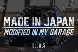 Made In Japan Decal Sticker Illest Lowered Jdm Kdm Stancenation Lowered