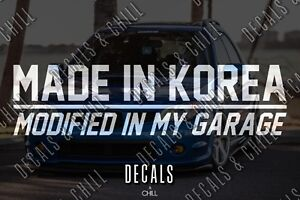 Made In Korea Decal Sticker Illest Lowered Jdm Kdm Stancenation Lowered