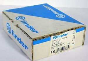 10 Each Finder 56 34 8 024 Power Relay 12a 250v Nos Nib Factory Sealed Box