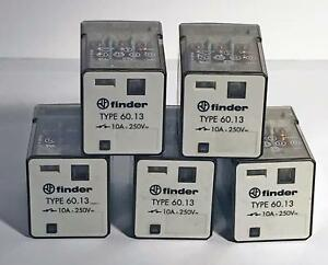 5 Each Finder 60 13 8 120 General Purpose Relay 10a 250v Nos