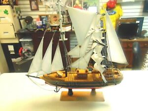 Vintage Blue Nose Schooner Model Ship Great Ship Well Done Quick Shipping
