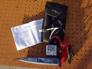 Fluke Networks Pro 3000 Toner Probe Kit With Soft Case Instructions Exc Cond