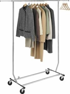 Heavy Duty Commercial Clothing Garment Rolling Collapsible Dry Rack Hanger