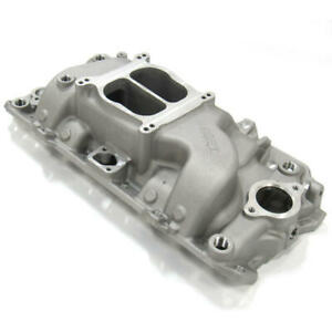 Renegade Intake Manifold 73001 Street Series Oval Port Satin Aluminum For Bbc