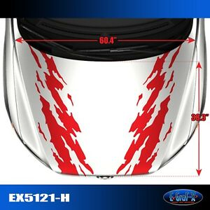 5121 h Hood Splash Tuner Vinyl Graphics Decals Car Truck High Quality Egraf x