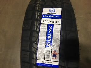 4 New 265 70 16 Lionsport At Tires 70r16 R16 70r Truck Cuv Suv Use
