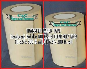 6 5 8 5 Application Transfer Paper Tape 300 Ft Roll For Vinyl Plotter Cutter