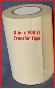 8 Application Transfer Paper Tape 300 Ft Roll For Vinyl Cutter Plotter Fresh
