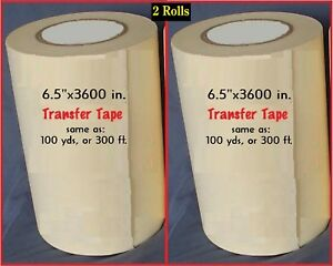 2 Rolls 6 5 Application Transfer Paper Tape 300 Ft For Vinyl Cutter Plotter