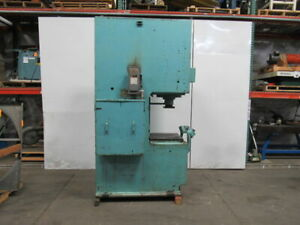 Denison 45 3 Ton Hydraulic Press C Frame 12 Stroke 12 Throat 18 Open