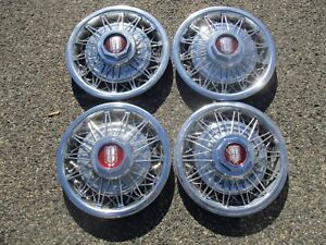 Genuine Ford Ltd Mercury Marquis 14 Inch Wire Spoke Hubcaps Wheel Covers Set