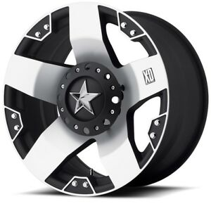 18 Xd Series Xd775 Rockstar Machined Wheel 18x9 6x135 6x5 5 0mm Ford Gmc 6 Lug