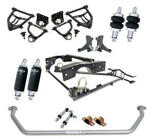 Ridetech 11350298 71 72 Chevy C10 Air Suspension System Control Arm Kit Sway Bar
